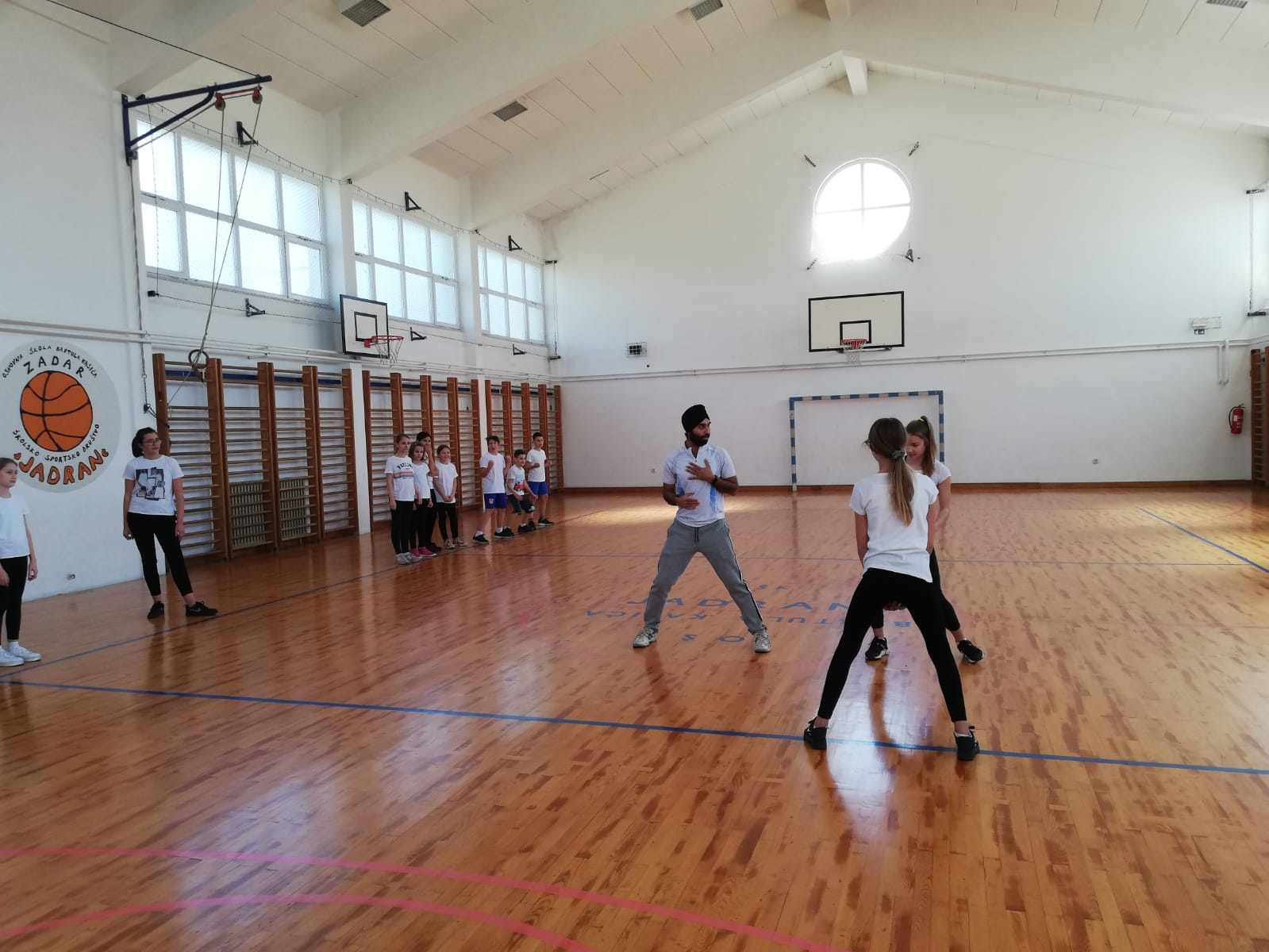 Introductory Training In Skola Bartola Kasica Badminton Club Zadar