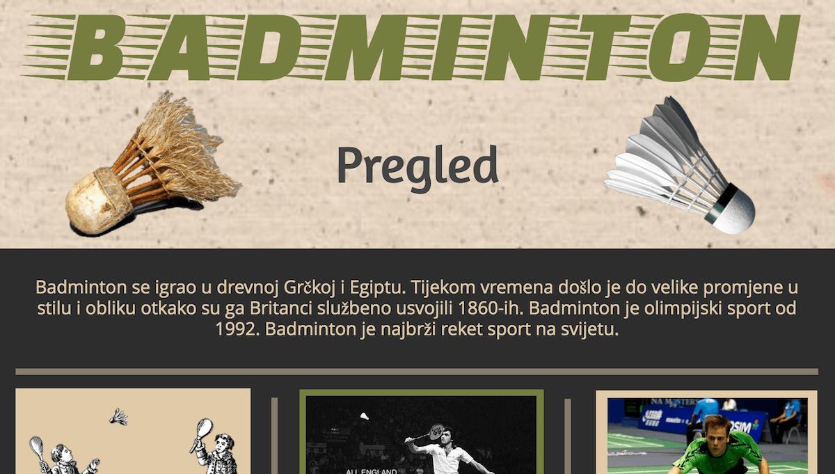 Badmintonska infografika