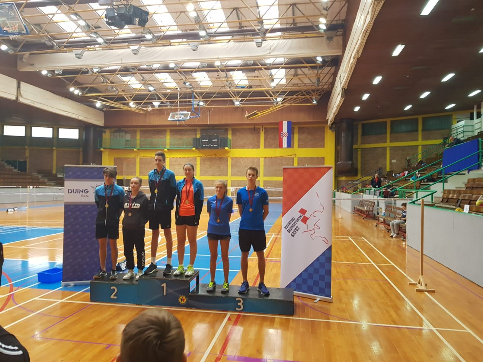 National league bronze medal XD pair badminton zadar bk koprivnica
