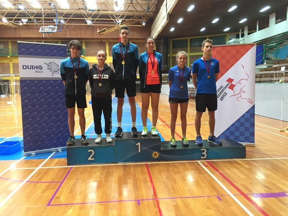 hrvatski kup, badminton zadar, U17, 3. mjesto