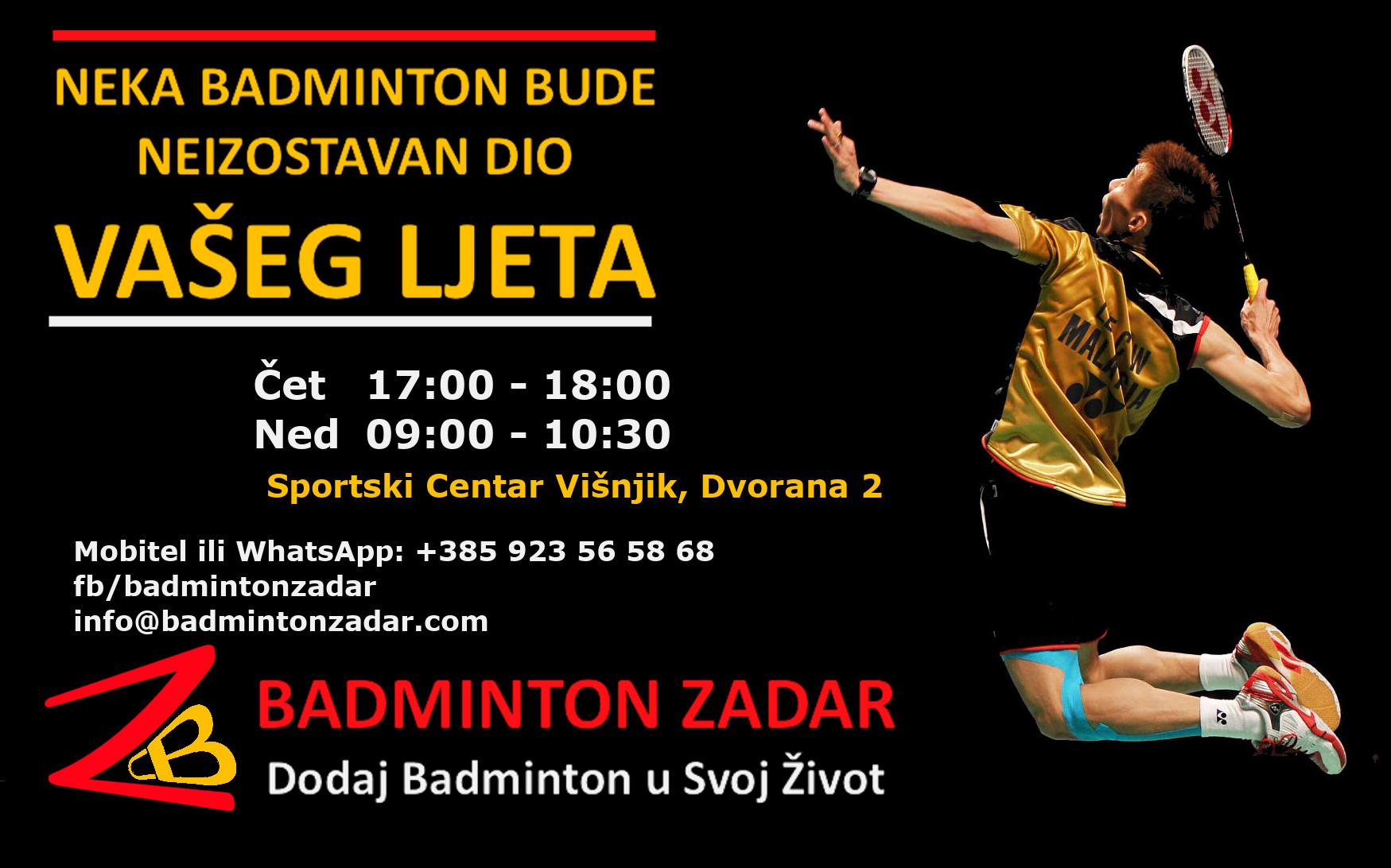 badminton trening ljeti 2021